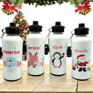 Christmas Sport Bottle Santa Friends
