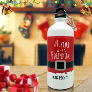 Christmas Sport Bottle Santa Claus