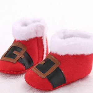 Christmas Baby Shoes - Little Santa1