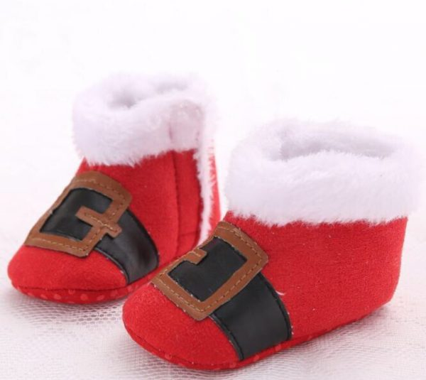 Christmas Baby Shoes - Little Santa1