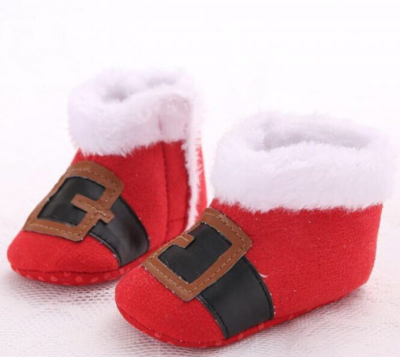 Christmas Baby Shoes Little Santa