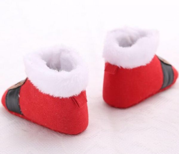 Christmas Baby Shoes - Little Santa3