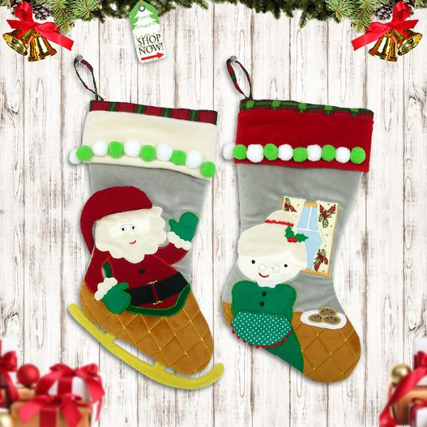 Christmas Stocking Mr & Mrs Santa