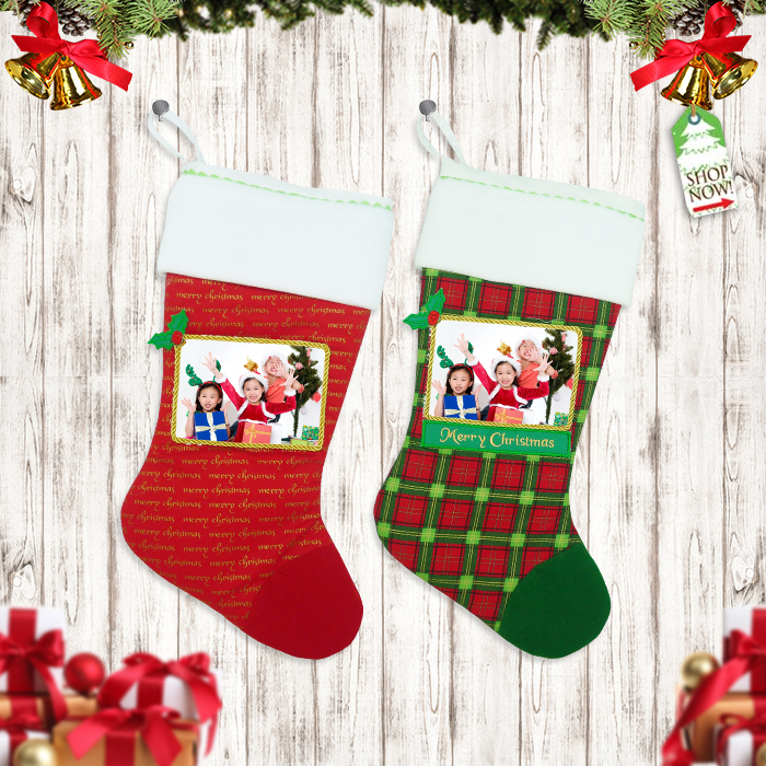 Shoes Stocking Christmas Photograph