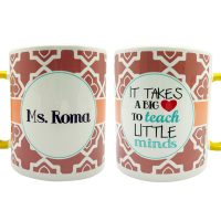 Jual Gelas Mug Kopi Geometric Brown