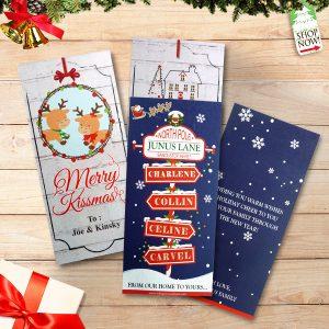 Greeting Card Natal Santa & Reindeer