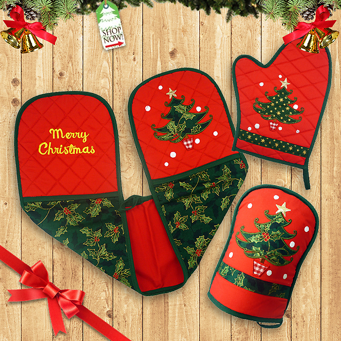 Kitchen Gloves Christmas Tree