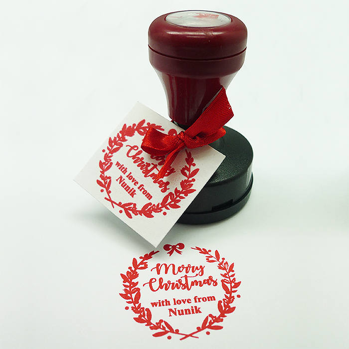Personalized Stamp Christmas Wreath 1