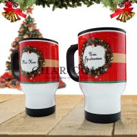 Travel Mug Christmas Collection - Christmas Wreath