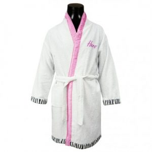 Bathrobe Adult Pink Zebra