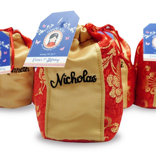 Fortune Cookies Pouch Tag Imlek