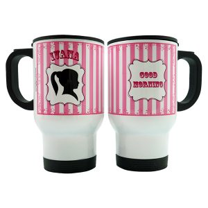 Stainles Travel Mug - Silhoute Girl 3