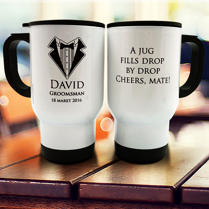 Travel Mug Groomsman Custom
