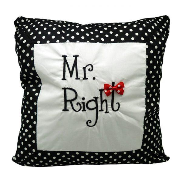 Chusion Mr. Right - Black Polkadot 1