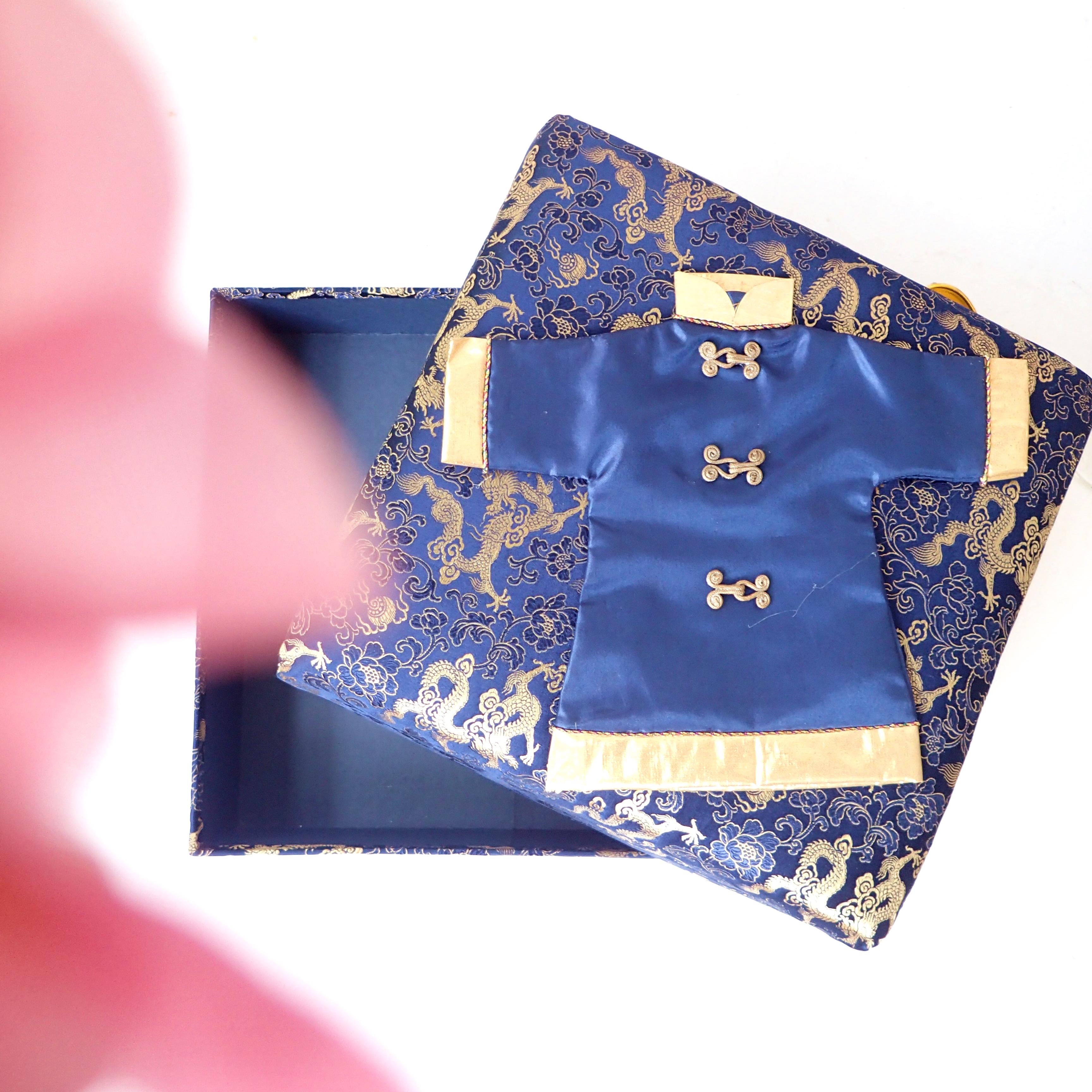 Chinese New Year Blue Cheongsam Box