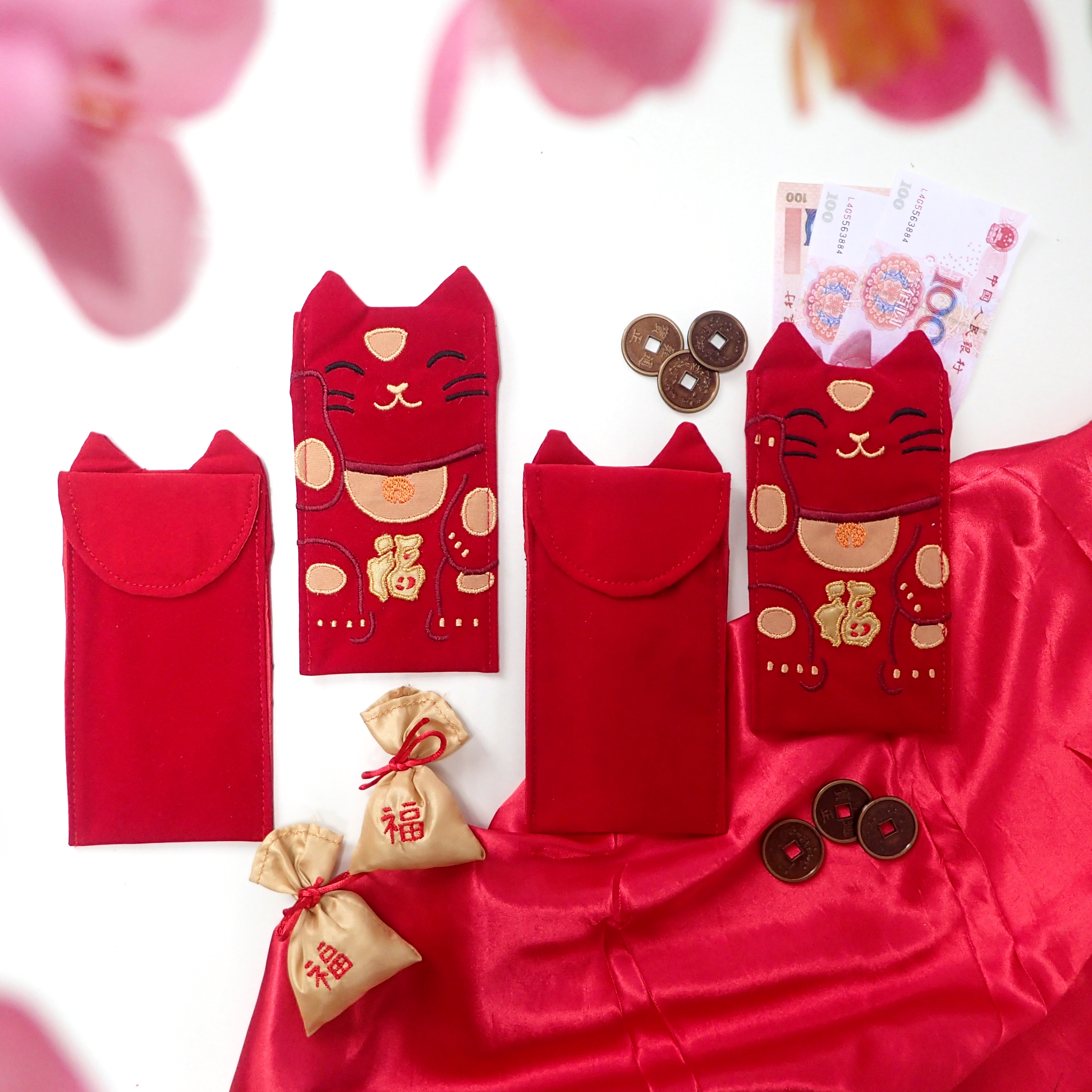 chinese new year lucky cat angpao