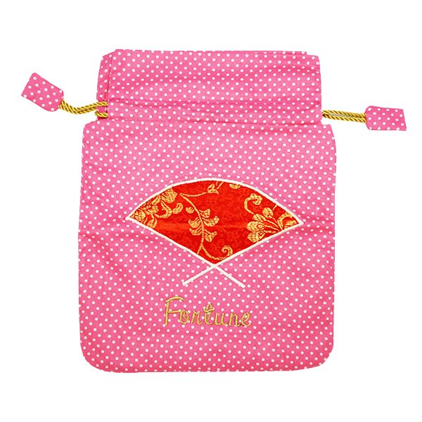 String Bag Chinese New Year - Fan Polkadot 3