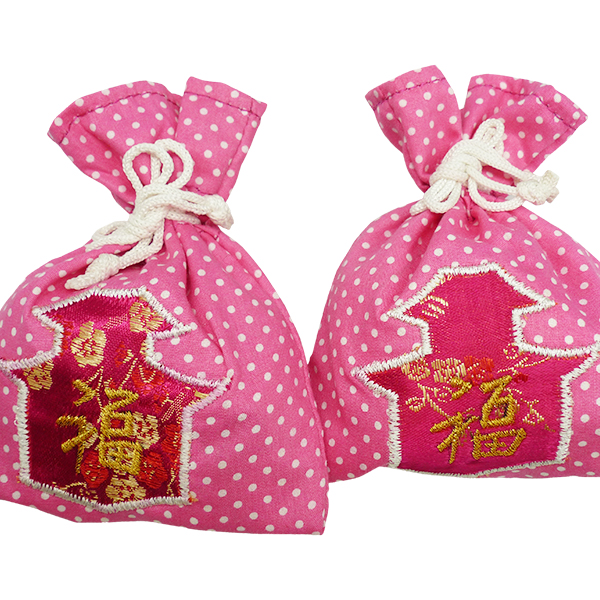 String Pouch Polkadot Chinese New Year 1