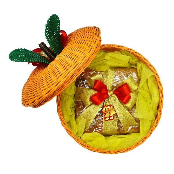 The Harvest Orange Rattan Large 4