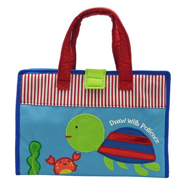 Art Bag / Drawing Bag Blue Turtle