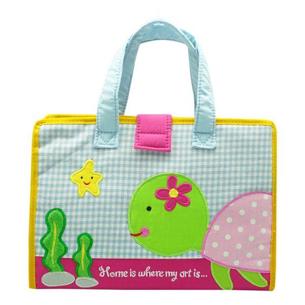 Art Bag / Drawing Bag Pink Turtle