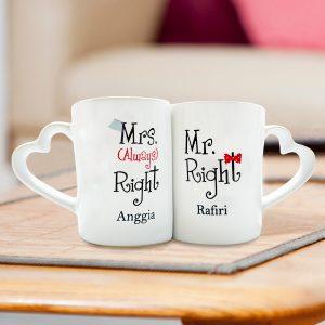 Mug Couple Valentine Mr. & Mrs. Right