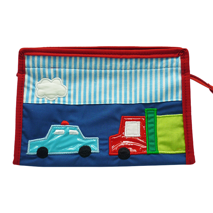 Toiletries Bag Triangle Trans Blue