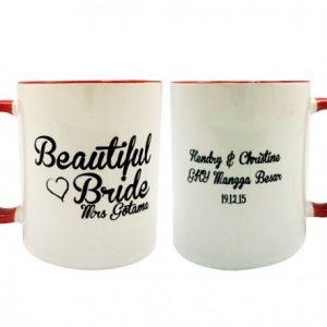 coffe mug valentine beautidul bride