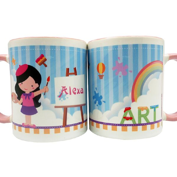 Coffee Mug Artist Girl