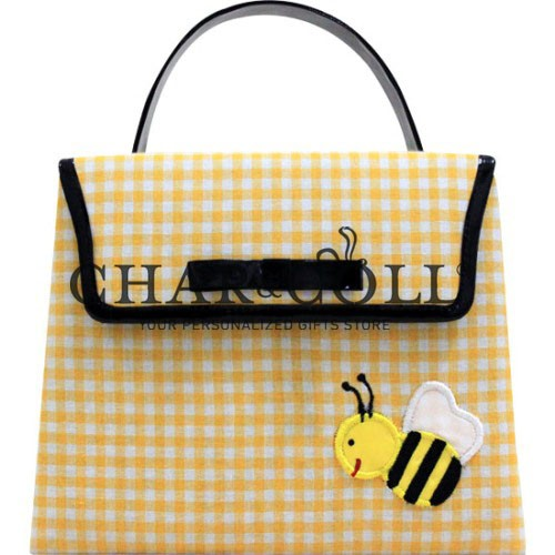 Hand Bag Mini Kelly Yellow Bee