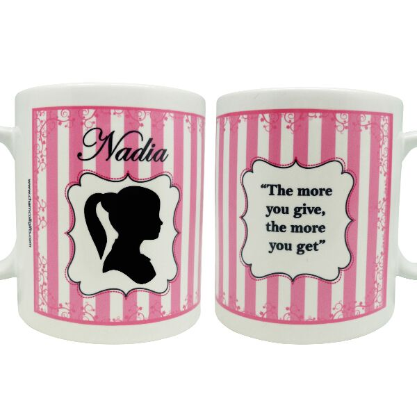 Coffee Mug Silhoutte Girl
