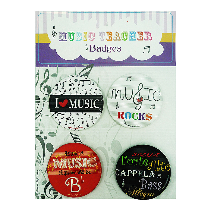 Custom Badge Music Teacher