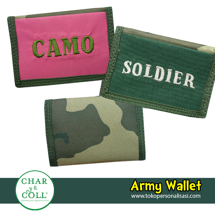 Kids Wallet Army Pink
