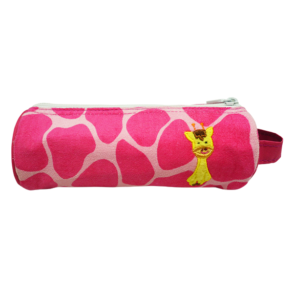 Pencil Pouch Berry Pink Girrafe