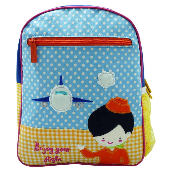 Toddler Small Backpack Airplane Girl