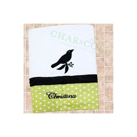 Bath Towel Silhouette Bird