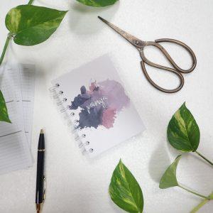 Mini Notebook Art Paint Splash Purple
