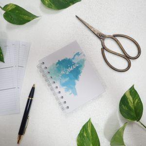 Mini Notebook Art Paint Splash Blue