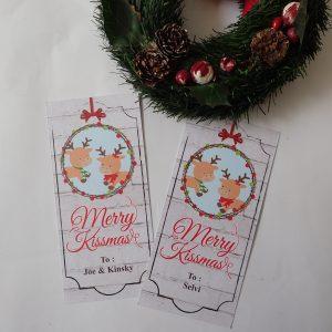 Jual Kartu ucapan Natal Merry Kiss-mas