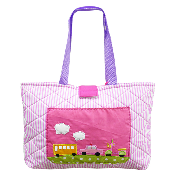 Quilted Tote Bag – Transportation Pink