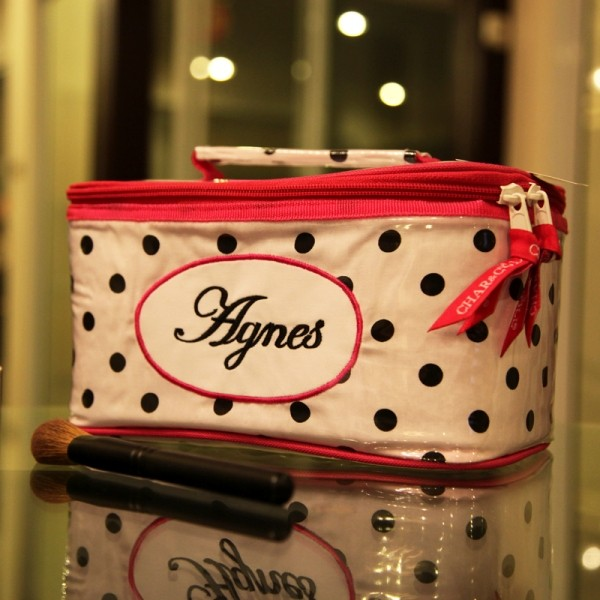 Cosmetic Bag Dorothy Fuschia Polkadots