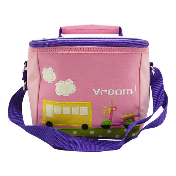 Square Lunch Bag – Transportation Pink