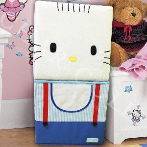 Stool Box – Blue Hello Kitty