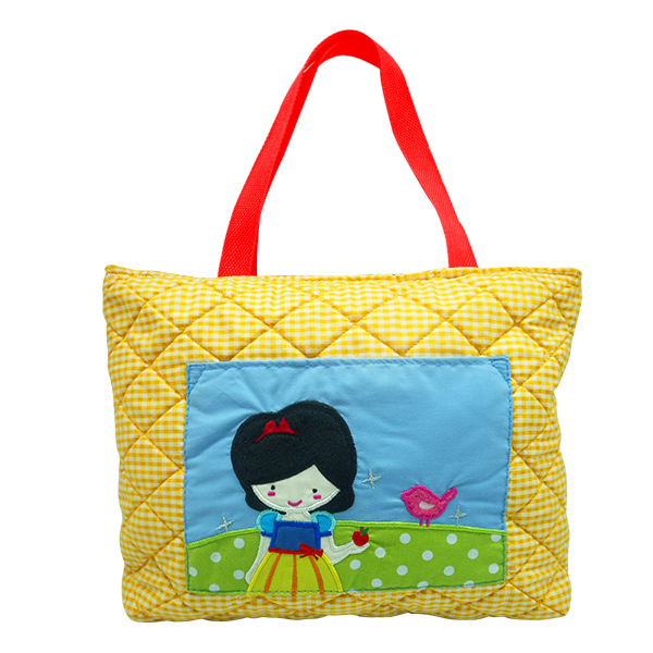 Quilted Tote Bag- Snow White
