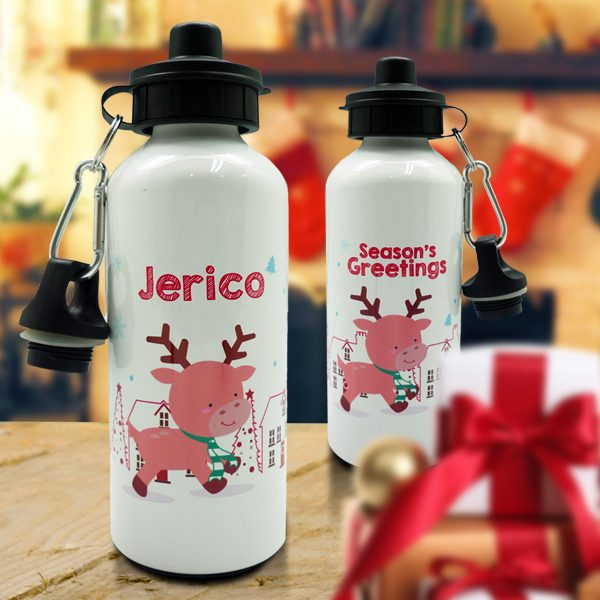 Christmas Sport Bottle Reindeer