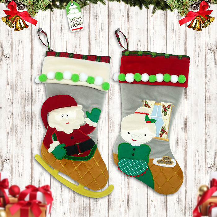 Shoes Stocking Christmas Mr. And Mrs. Claus