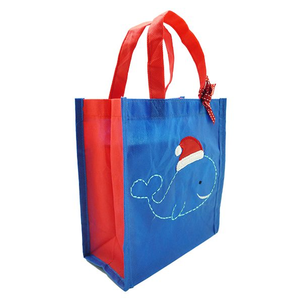 Eco Tote Bag - Christmas Whale 1