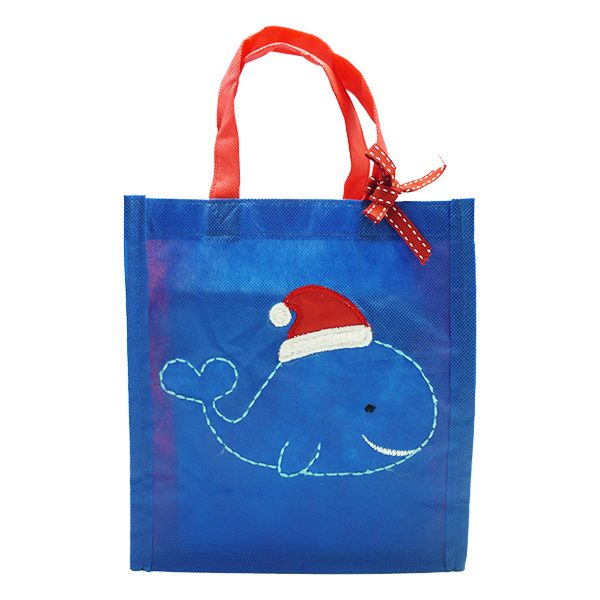 Eco Tote Bag - Christmas Whale 2