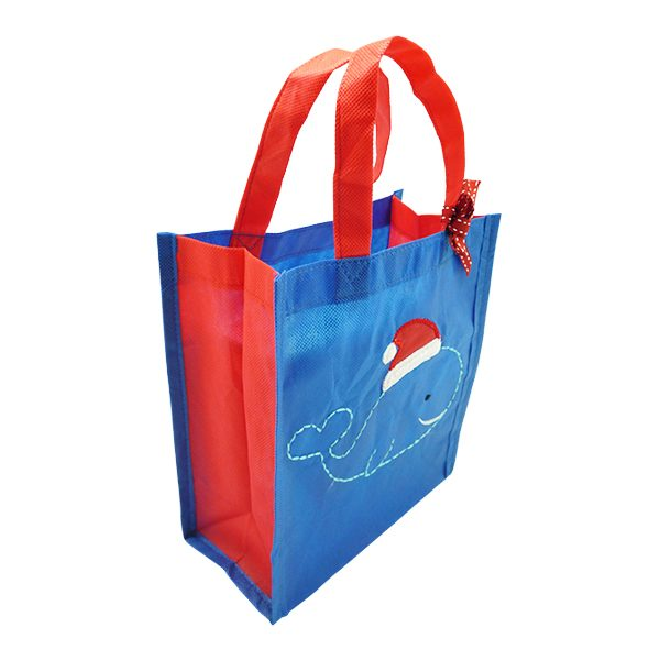 Eco Tote Bag - Christmas Whale 3