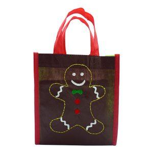 Christmas Eco Tote Bag - Ginger Bread 2